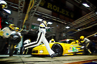 Corvette Racing, 24 Hours of Le Mans, Le Mans FRANCE, June 11-12, 2011, C6.R #73 won the GTE PRO class, ©2011 Richard Prince, richard@rprincephoto.com.