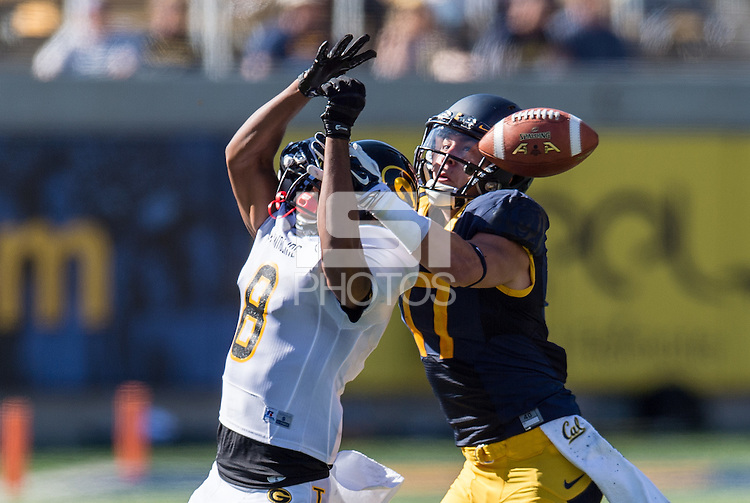 BERKELEY, CA - September 5, 2015: The Cal Bears Football team vs the Grambling State Tigers at Memorial Stadium in Berkeley, California. Final score, Cal Bears 73, Grambling State 14.