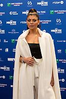 Nawell Madani lors de la 9ème Cérémonie des Magritte du Cinéma, qui récompense le septième art belge, au Square, à Bruxelles.<br /> Belgique, Bruxelles, 2 février 2019.<br /> Nawell Madani pictured during the 9th edition of the Magritte du Cinema awards ceremony, <br /> Belgium, Brussels, 2 February 2019.