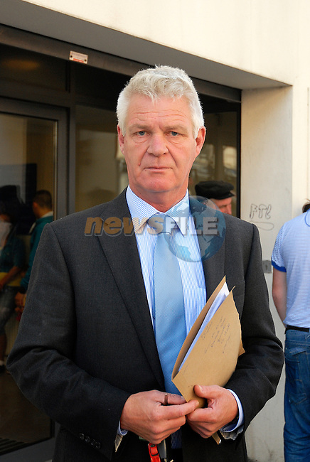 11/06/2012 ..Louth County Coroner Ronan Maguire..at drogheda Court for the inquest into the death of Simon McDonagh. Where Mr Alan Floyd alleged that the members of the coast guard done nothing to help the casualty, and disagreed with the HSE paramedic on his timings..Picture www.newsfile.ie