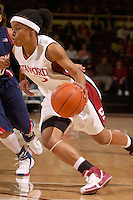 28 December 2006: Stanford Cardinal Markisha Coleman during Stanford's 86-58 win against the Arizona Wildcats at Maples Pavilion in Stanford, CA.