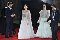 LONDON, ENGLAND - October 09: Angelina Jolie and Elle Fanning attending the European Premiere of 'Maleficent: Mistress of Evil' at BFI IMAX Waterloo on October 09, 2019 in London, England.<br /> CAP/MAR<br /> ©MAR/Capital Pictures /MediaPunch ***NORTH AMERICA ONLY***