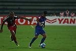 lyngdoh of bfc(R) going through the ball while JDT's M.Antinio trying to defend him during AFC CUP Semi Finals Leg2 JSW Bengaluru FC vs Johor Darul Ta'zim (JDT) at Kanteerava Stadium, Bangaluru, India.<br /> Photo by Saikat Das / Lagardere Sports