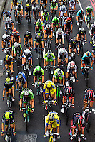 Picture by Charlie Forgham-Bailey/SWpix.com - 14/09/2014 - Cycling - 2014 Friends Life Tour of Britain - Stage 8b, London Circuit Race - The peloton in action.