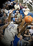 March 3, 2012:   Nevada Wolf Packs Dario Hunt shoots a layup against the Louisiana Tech Bulldogs during their NCAA basketball game played at Lawlor Events Center on Saturday night in Reno, Nevada.