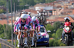 Valcar PBM team in action during Stage 1 of the Madrid Challenge by La Vuelta, a team time trial running 12.6km from Boadilla del Monte to Boadilla del Monte, Spain. 15th September 2018.                   <br /> Picture: Unipublic/Vicent Bosch | Cyclefile<br /> <br /> <br /> All photos usage must carry mandatory copyright credit (&copy; Cyclefile | Unipublic/Vicent Bosch)