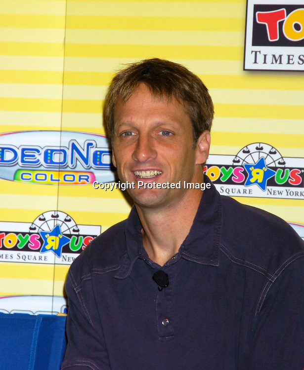 skateboarder Tony Hawk ..at the launch of VIDEONOW COLOR on July 15, 2004 at Toys R Us Times Square in New York City. ..Photo by Robin Platzer, Twin Images