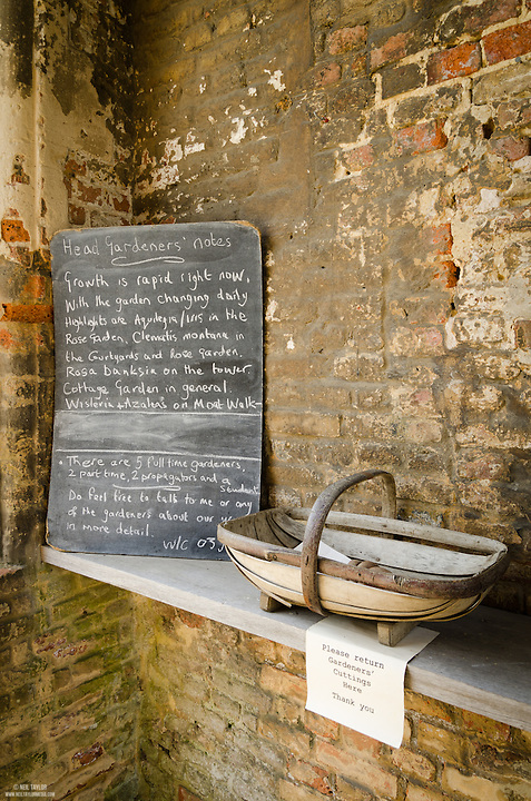 Gardeners Notes at Sissinghurst Castle