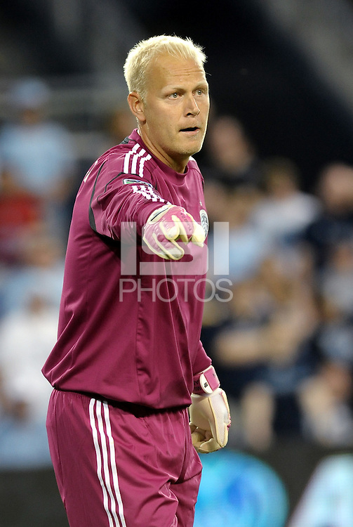 Jimmy Nielsen Sporting KC goalkeeper... Sporting Kansas City defeated FC Dallas 2-1 at LIVESTRONG Sporting Park, Kansas City, Kansas.