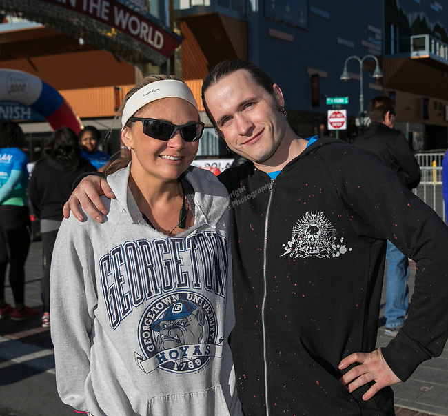 Rich Schaviers and Amber Hukkanen during the Downtown River Run on Sunday, April 30, 2017 in Reno, Nevada.