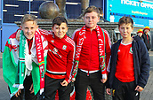9th October 2017, Cardiff City Stadium, Cardiff, Wales; FIFA World Cup Qualification, Wales versus Republic of Ireland; Young Wales fans arrive at the stadium before the match