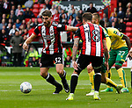 Ched Evans of Sheffield Utd looks for a break during the Championship match at Bramall Lane Stadium, Sheffield. Picture date 16th September 2017. Picture credit should read: Simon Bellis/Sportimage