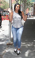 NEW YORK, NY - JUNE 30:  Jordin Sparks spotted leaving 'The View' following an appearance as guest co-host in New York, New York on June 30, 2016.  Photo Credit: Rainmaker Photo/MediaPunch