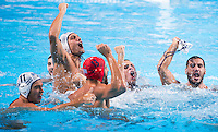Celebration players GREECE bronze medal<br /> GREECE vs ITALY<br /> GRE vs ITA<br /> Waterpolo - Men's 3rd-4th place <br /> Day 16 08/08/2015<br /> XVI FINA World Championships Aquatics Swimming<br /> Kazan Tatarstan RUS July 24 - Aug 9 2015 <br /> Photo Giorgio Perottino/Deepbluemedia/Insidefoto