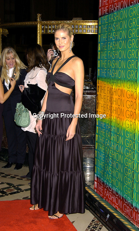 Heidi Klum ..at the Fashion Group International's 21st Annual Night of ..Stars on October 28, 2004 at Cipriani 42nd Street in New York City. ..Photo by Robin Platzer, Twin Images