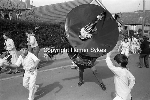Padstow Hobby Horse. Padstow, Cornwall. England. 1975.<br />
