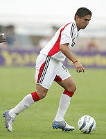 26 June 2004:  DC United Jaime Moreno in action against Dallas Burn at Cotton Bowl in Dallas, Texas.   DC United and Dallas Burn are tied 1-1 after the game.   Credit: Michael Pimentel / ISI