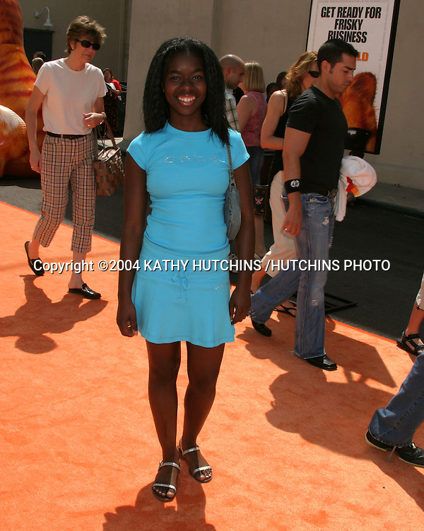 "©2004 KATHY HUTCHINS / HUTCHINS PHOTO.PREMIERE OF ""GARFIELD:  THE MOVIE"".20TH CENTURY FOX LOT.CENTURY CITY, CA.JUNE 6, 2004..CAMILLE WINBUSH"