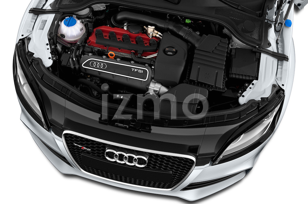 High angle engine detail of a 2010 - 2014 Audi TT RS 3 Door Coupe 4WD.