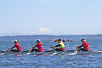 Port Townsend, Rat Island Regatta, rowers, Bogaciel,  rowing, racing, Sound Rowers, Rat Island Rowing Club, Puget Sound, Olympic Peninsula, Washington State, water sports, rowing, kayaking, competition,