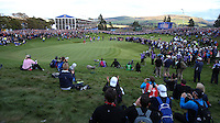 The scene at the last during Sunday's Singles at the 2014 Ryder Cup from Gleneagles, Perthshire, Scotland. Picture:  David Lloyd / www.golffile.ie