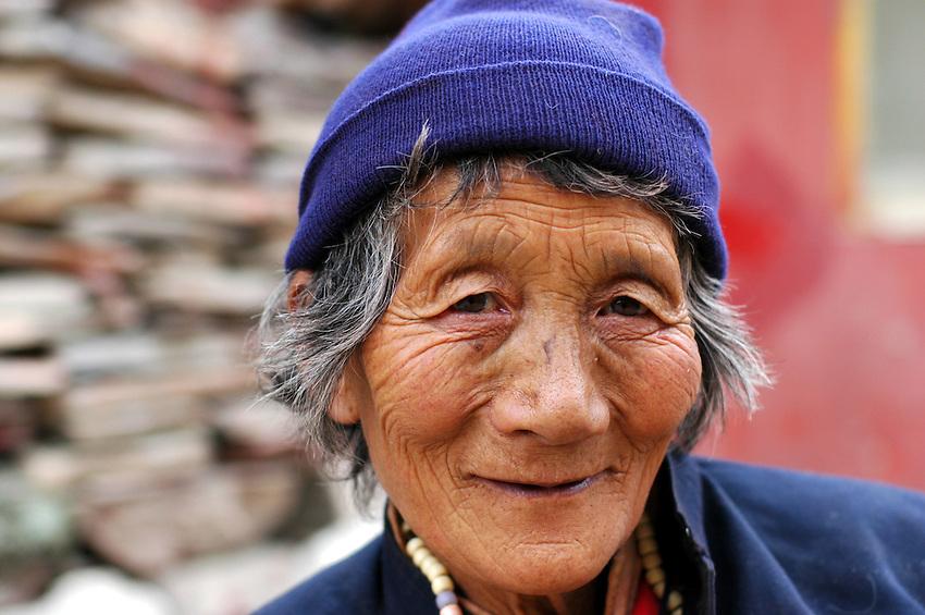 A Tibetan woman in Dege - March 20, 2008 - Michael Benanav