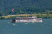 Paddlewheeler and windsurfer on Columbia River
