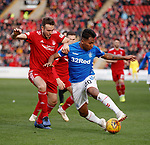 03.03.2019 Aberdeen v Rangers: Andrew Considine and Alfredo Morelos
