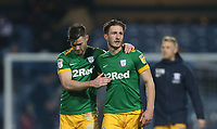 Preston North End's Andrew Hughes and Ben Davies at the end of the game<br /> <br /> Photographer Rob Newell/CameraSport<br /> <br /> The EFL Sky Bet Championship - Queens Park Rangers v Preston North End - Saturday 19 January 2019 - Loftus Road - London<br /> <br /> World Copyright &copy; 2019 CameraSport. All rights reserved. 43 Linden Ave. Countesthorpe. Leicester. England. LE8 5PG - Tel: +44 (0) 116 277 4147 - admin@camerasport.com - www.camerasport.com