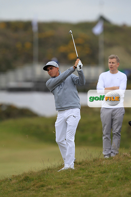 Rickie FOWLER (USA)  during the Pro-Am of the 2015 Dubai Duty Free Irish Open, Royal County Down Golf Club, Newcastle Co Down, Northern Ireland. 27/05/2015<br /> Picture Thos Caffrey, www.golffile.ie