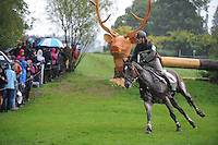 Blair Atholl, Scotland, UK. 12th September, 2015. Longines  FEI European Eventing Championships 2015, Blair Castle. during the Cross country phase © Julie Priestley