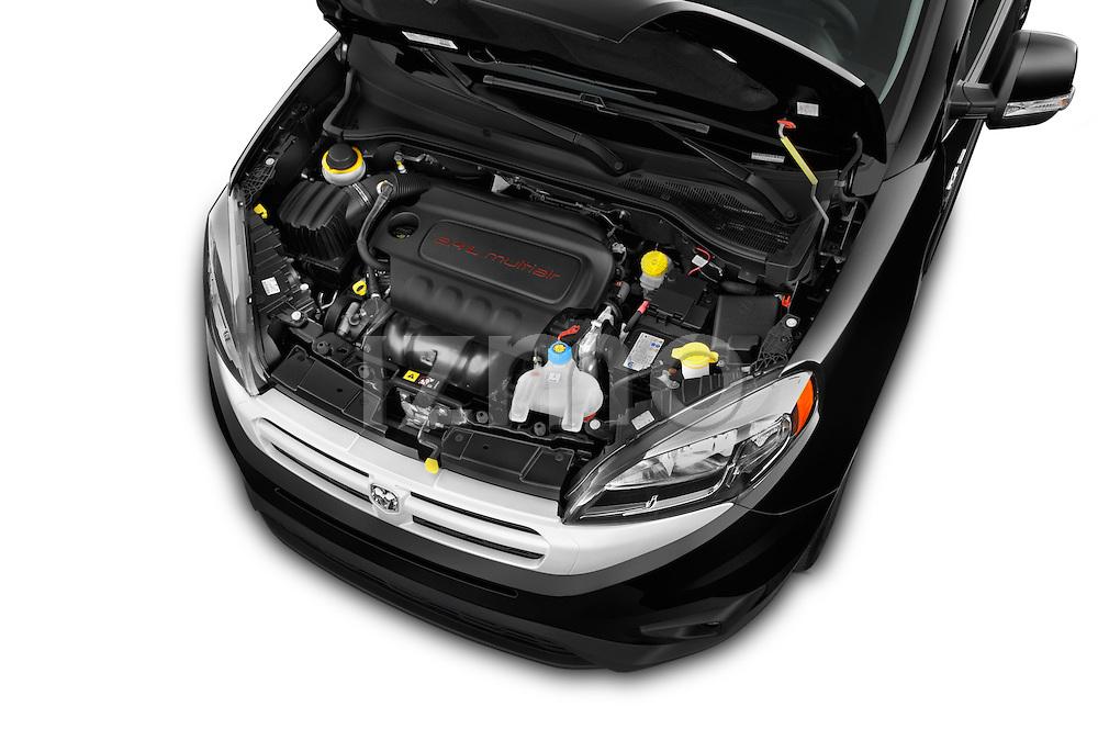 Car Stock 2017 Ram Promaster City SLT 5 Door Mini Mpv Engine high angle detail view