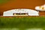 6 October 2017: The side of the Washington Nationals NLDS Base is seen during the first game of the NLDS against the Chicago Cubs at Nationals Park in Washington, DC. The Cubs shut out the Nationals 3-0 to take a 1-0 lead in their best of five Postseason series. Mandatory Credit: Ed Wolfstein Photo *** RAW (NEF) Image File Available ***