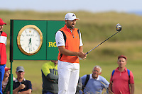 Sergio Garcia (ESP) on the 15th tee during Thursday's Round 1 of the 145th Open Championship held at Royal Troon Golf Club, Troon, Ayreshire, Scotland. 14th July 2016.<br /> Picture: Eoin Clarke | Golffile<br /> <br /> <br /> All photos usage must carry mandatory copyright credit (&copy; Golffile | Eoin Clarke)
