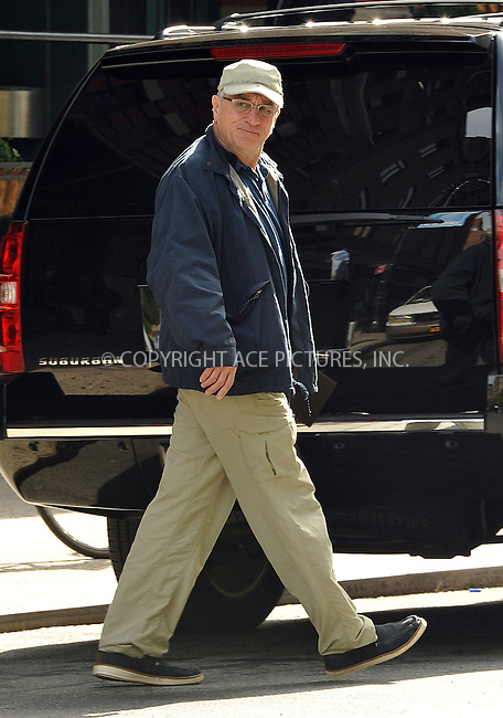 ACEPIXS.COM<br /> <br /> October 28 2014, New York City<br /> <br /> Actor Robert De Niro walks in Tribeca on October 28 2014 in New York City<br /> <br /> <br /> By Line: Curtis Means/ACE Pictures<br /> <br /> ACE Pictures, Inc.<br /> www.acepixs.com<br /> Email: info@acepixs.com<br /> Tel: 646 769 0430