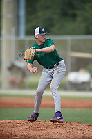 Cade Henry (12) during the WWBA World Championship at the Roger Dean Complex on October 11, 2019 in Jupiter, Florida.  Cade Henry attends Alabama Christian Academy in Florence, AL and is committed to South Alabama.  (Mike Janes/Four Seam Images)