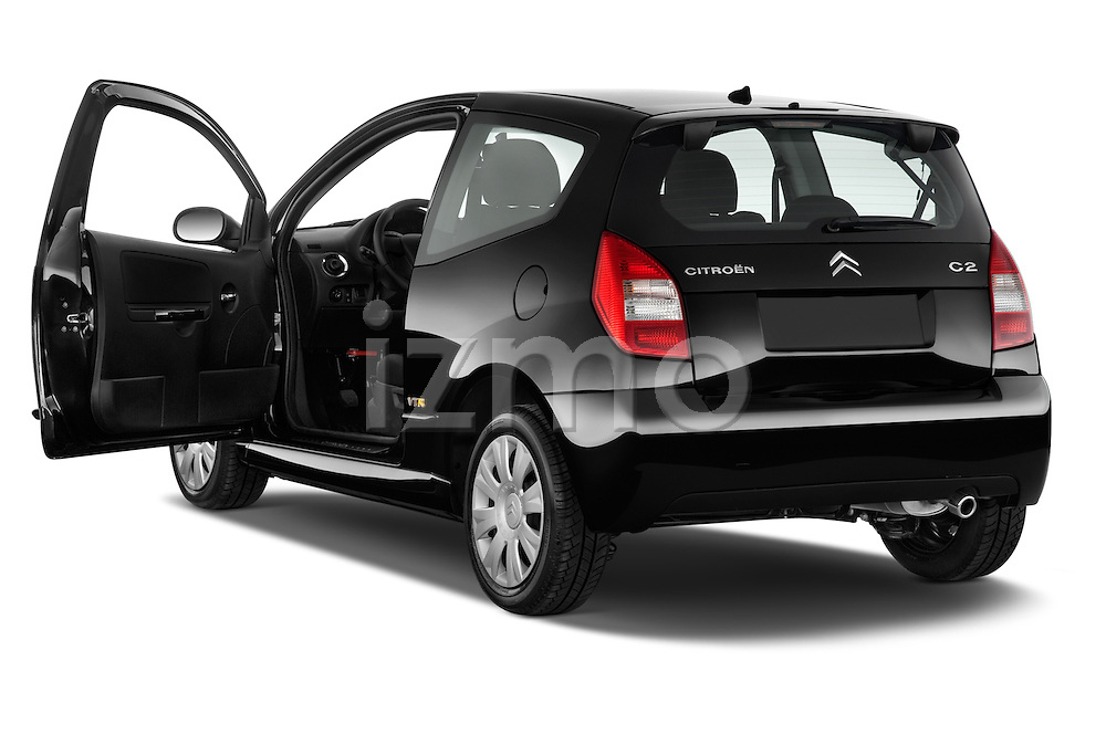 Rear three quarter door view of a 2008 - 2009 Citroen C2 VTR 3 Door Hatchback 2WD