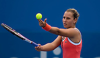 Dominika Cibulkova (SVK) against Timea Bacsinszky (SUI) in the first round of the ladies singles. Cibulkova beat Bacsinszky 7-6 6-1..International Tennis - Medibank International Sydney - MON 11 Jan 2010 - Sydney Olympic Park  Tennis Centre- Sydney - Australia ..© Frey - AMN Images, 1st Floor, Barry House, 20-22 Worple Road, London, SW19 4DH.Tel - +44 20 8947 0100.mfrey@advantagemedianet.com