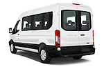 Car pictures of rear three quarter view of 2016 Ford Transit 350-XLT-Med-Roof 4 Door Passenger Van Angular Rear
