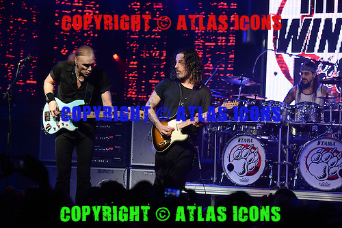 FORT LAUDERDALE, FL - OCTOBER 16: Mike Portnoy, Billy Sheehan and Richie Kotzen of The Winery Dogs perform at The Culture Room on October 16, 2015 in Fort Lauderdale Florida. Credit Larry Marano © 2015
