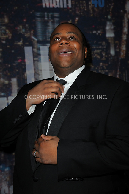 WWW.ACEPIXS.COM<br /> February 15, 2015 New York City<br /> <br /> Kenan Thompson walking the red carpet at the SNL 40th Anniversary Special at 30 Rockefeller Plaza on February 15, 2015 in New York City.<br /> <br /> Please byline: Kristin Callahan/AcePictures<br /> <br /> ACEPIXS.COM<br /> <br /> Tel: (646) 769 0430<br /> e-mail: info@acepixs.com<br /> web: http://www.acepixs.com