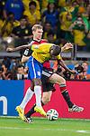 Per Mertesacker (GER), Ramires (BRA), JULY 8, 2014 - Football / Soccer : FIFA World Cup Brazil 2014 Semi Final match between Brazil 1-7 Germany at Estadio Mineirao in Belo Horizonte, Brazil. (Photo by Maurizio Borsari/AFLO)