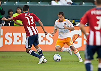 CARSON, CA – July 23, 2011: Houston Dynamo Danny Cruz (5) during the match between Chivas USA and Houston Dynamo at the Home Depot Center in Carson, California. Final score Chivas USA 3, Houston Dynamo 0.