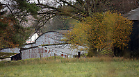 Pictured: A partial view of the house that burned in Llangammarch Wells, Powys, Wales, UK. Tuesday 31 October 2017<br /> Re: Investigations continue into a house fire in which a father and several of his children have died.<br /> Three children aged 13, 12 and 10 escaped the farmhouse in Llangammarch Wells, Powys, in the early hours of Monday and raised the alarm.<br /> Police said they could not identify the deceased or confirm numbers.<br /> One of those missing has been named locally as David Cuthbertson.