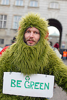 Participant at a big demonstration held in Copehangen on Dec 12. United Nations Climate Change Conference (COP15) was held at Bella Center in Copenhagen from the 7th to the 18th of December, 2009. A great deal of groups tried to voice their opinion and promote their cause in various ways. The conference and demonstrations was covered by thousands of photographers and journalists from all over the world...©Fredrik Naumann/Felix Features.