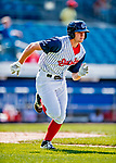22 July 2018: Syracuse SkyChiefs outfielder Andrew Stevenson in action against the Louisville Bats at NBT Bank Stadium in Syracuse, NY. The Bats defeated the Chiefs 3-1 in AAA International League play. Mandatory Credit: Ed Wolfstein Photo *** RAW (NEF) Image File Available ***