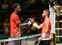 Rotterdam, The Netherlands, 14 Februari 2019, ABNAMRO World Tennis Tournament, Ahoy, quarter finals, singles, Gael Monfils (FRA) vs Damir Dzumhur (BIH), <br /> Photo: www.tennisimages.com/Henk Koster