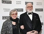 Nancy Jones and Simon Jones attends the Gingold Theatrical Group's Golden Shamrock Gala at 3 West Club on March 16, 2019 in New York City.