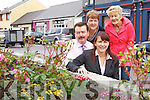 IN FULL BLOOM: Beside the new flower bed on Market Street, Listowel which was sponsored by Pierse and Fitzgibbon Solicitors, front l-r: Michael Fitzpatrick and Helena O'Carroll (P&F), back Mary O'Hanlon and Eileen Worts (Listowel Tidy Towns).