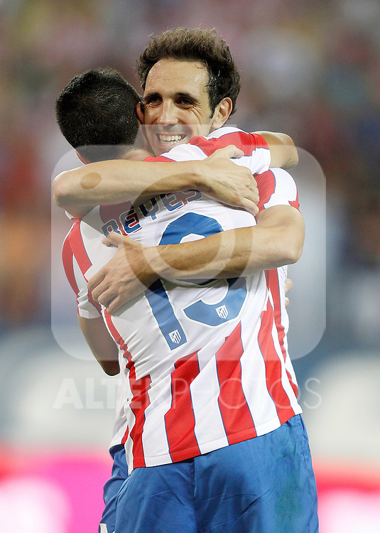 Atletico de Madrid's Juanfran Torres celebrates during UEFA Europa League third qualifying round match. July 28, 2011. (ALTERPHOTOS/Alvaro Hernandez)
